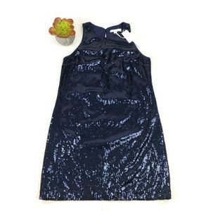 Piperlime Audrey Dress Blue Sequin Holiday Party